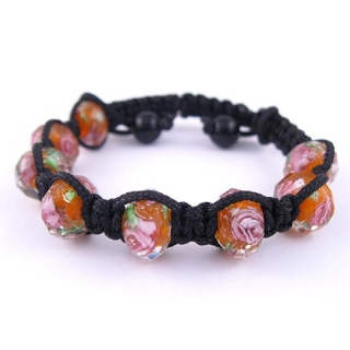 Shamballa náramek Crystal Orange