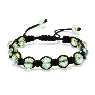 Shamballa náramek Crystal Light Green