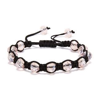 Shamballa náramek Crystal Light Pink