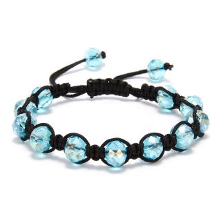 Shamballa náramek Crystal Light Blue
